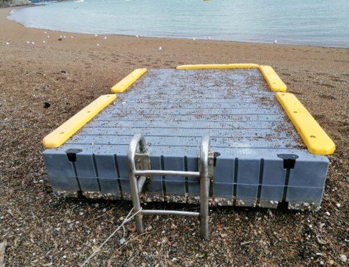 Russell Beach Swim Pontoon gets some TLC